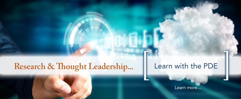 PDE Thought Leadership - Learn with Us